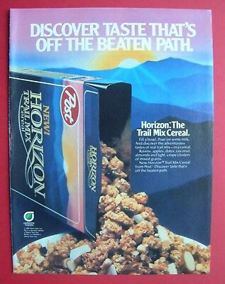 1986 Horizon - The Trail Mix Cereal. Color AD