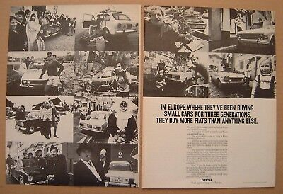 1972 Fiat - Europeans are buying small cars 2PG AD