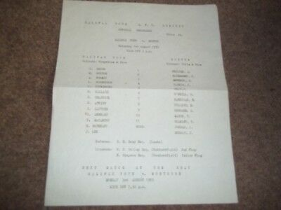 Rare Halifax Town V Morton Friendly 1St August 1970