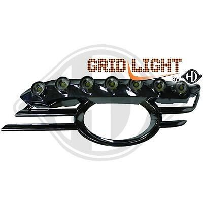 Pair Grid Fog Lamp With Daylight Mercedes Class E W211 2006-2009 1615588