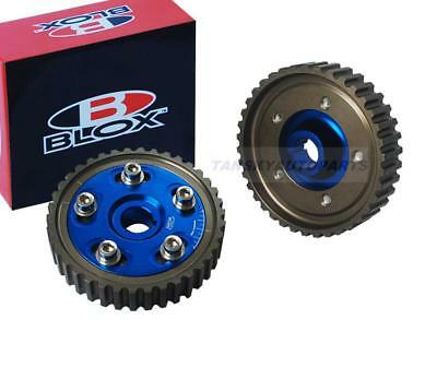 Racing Adjustable Blue Cam Gear Gears Pulley Pair Honda D16 D16A Sohc Drifting