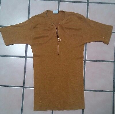 Vintage Penney's Towncraft casual shirt short sleeve w/zipper Mod fitted sz L