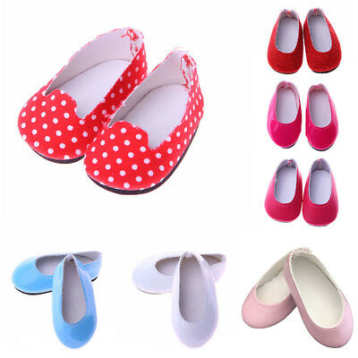 Cute Casual Pumps Shoes For 14 inch Wellie Wishers American Girl Dolls Dresses