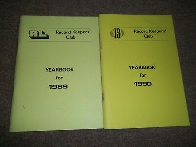 Rugby League Record Keepers Club Yearbook For 1989