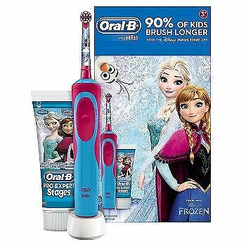 Oral-B Frozen Stages Power Kids Electric Toothbrush and Toothpaste Gift Set