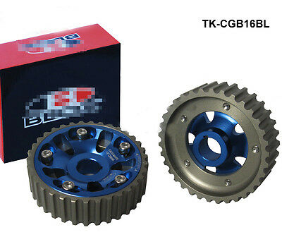 RACING ADJUSTABLE BLUE CAM GEAR GEARS PAIR fits HONDA B16A B16B DOHC DRIFTING