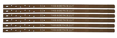 Post Buddy System - Pack of 6 Powder Coated Mild Steel Fence Post Repair Stakes