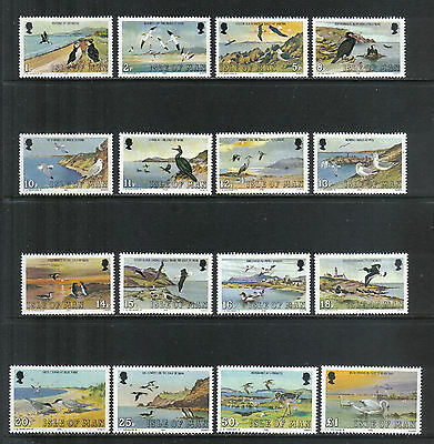 Isle of Man 1983 Marine Birds definitives--Attractive Topical (224-39) MNH