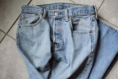 Levi 501 Jeans 29 x 30 USA vintage button fly high waist mom jeans W measures 27