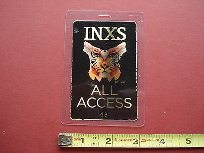 INXS,laminated OTTO backstage pass,RARE,ALL ACCESS,foil hologram