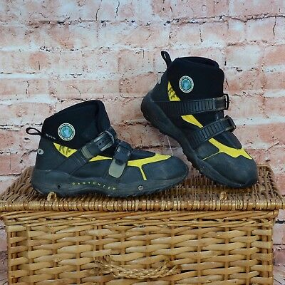 Mens 5.10 Five Ten Canyoneer Black Yellow Wet Shoes Canoeing Kayaking UK 11