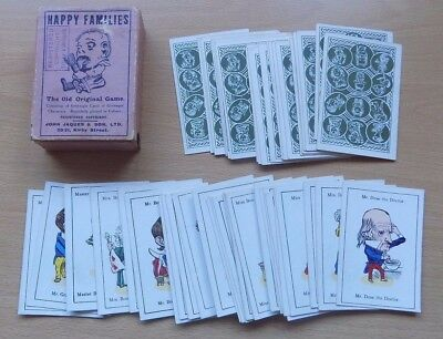 Vintage JAQUES Happy Families Card Game