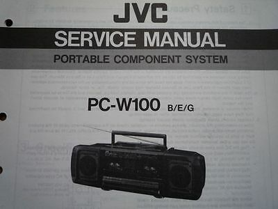 JVC PC-W100 Portable Component System Service manual wiring parts diagram repair