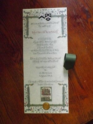 Medieval Wedding Invitation (Customized)