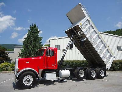 Peterbilt 357 Tri Axle Dump Truck Cat Caterpillar C-12 Aluminum Dump Bed