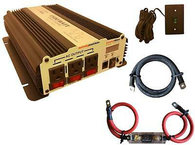 VertaMax 1500 Watt Modified Wave Power Inverter + Cables + Fuse + ON/OFF Remote
