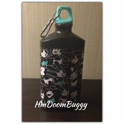 D23 Expo 2017 Disney Oswald 90th Anniv Tin Metal Water Bottle Flask D Ring Clip