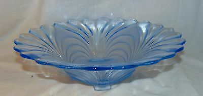 """Cambridge CAPRICE BLUE ALPINE * 12 3/4"""" - 4 FOOTED FLARED BOWL * 62*"""