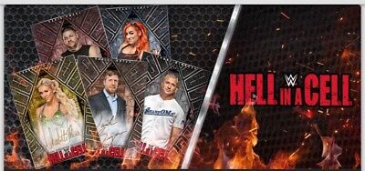 20 Card Set-White Base-Hell In A Cell-Topps Wwe Slam Card Trader