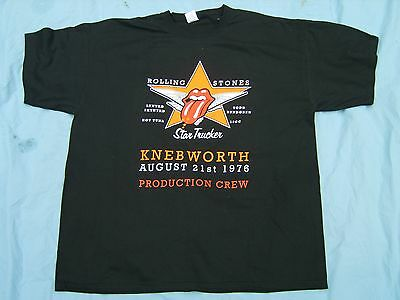 Rolling Stones Knebworth 1976 Production Crew T shirt