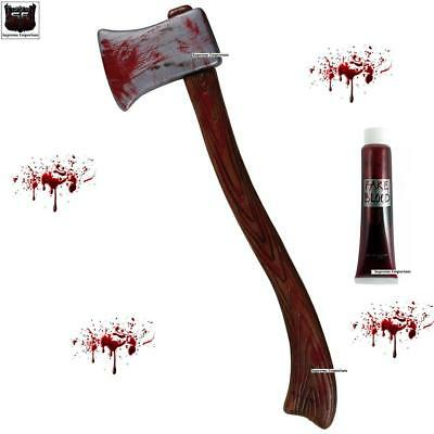 Giant Bloody Axe Blood Splatter Weapon Large Adults Fancy Dress Prop Halloween