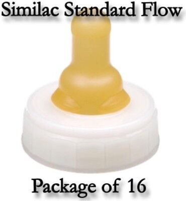 Similac Nipple & Ring Standard Flow Infant Baby Disposable Latex-Free-(16/Pkg)