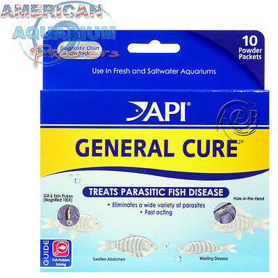 API GENERAL CURE PARASITE TREATMENT (External/Internal) POWDER PACKET 10 PACK