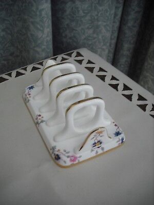 Quality - Hammersley English Fine Bone China - Floral Patterned Toast Rack- Vgc