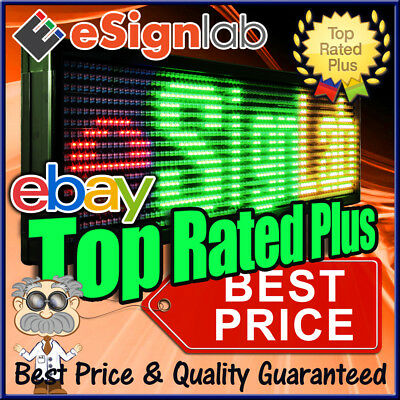 "LED Sign 3Color 19"" x 53"" Programmable Scrolling Outdoor Message Display Open"