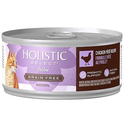 Holistic Select Natural Canned Grain Free Wet Cat Food Chicken Pate 5.5-O... New