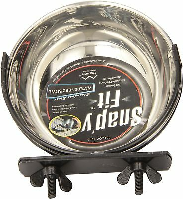 Midwest Stainless Steel Snap'y Fit Water and Feed Bowl 10 Ounce 10 Ounces New