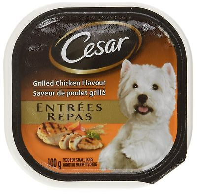 Cesar Entres Food Trays for Dogs Chicken, Porterhouse 100g (12 Pack) New