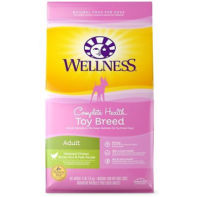 Wellness Complete Health Natural Dry Toy Breed Dog Food Chicken & Rice 4-... New