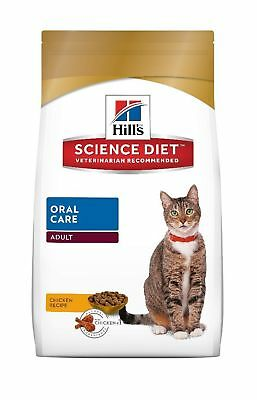 Hill's Science Diet Adult Cat Oral Care Dry Food 7.03kg/15.5-Pound bag New