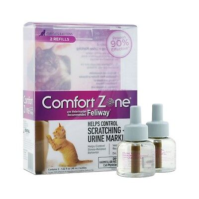 Farnam Comfort Zone with Feliway Diffuser Refills for Cats 48 ml Pack of 2 New