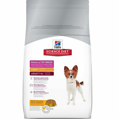 Hill's Science Diet Adult Light Small and Toy Breed Dry Dog Food 15.5-Pou... New