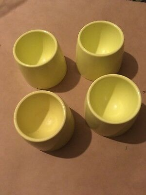 Vintage MELAMINE STACKING  Egg Cups Campervan retro 1950's
