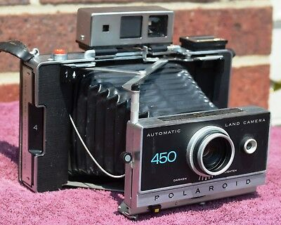 Polaroid 450 Camera w/ New  & Good A24PX Batteries, Film TESTED, Timer Works