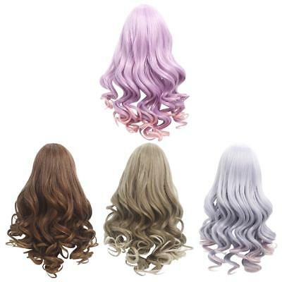 4pcs Long Curly Wig Hair for 18'' American Girl Dolls DIY Making Accessories