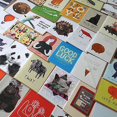 500 Mixed High Quality & Hilarious Greeting Cards Joblot • Perfect for resale