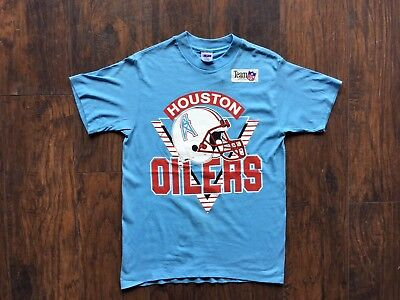 Vintage Houston Oilers Deadstock ALL Sizes Shirt Tee 1980s Single Stitch NWT NFL