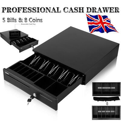 Cash Drawer Register RJ11 Interface 5 Bills 8 Coins Tray for POS Receipt Printer