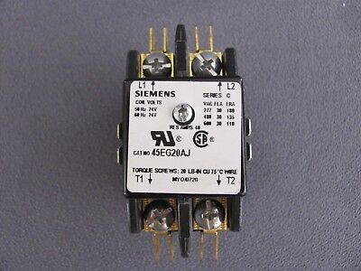 New Old Stock Siemens 45EG20AJ Open Type Contactor 2 Pole 30Amp 24V Coil SeriesC
