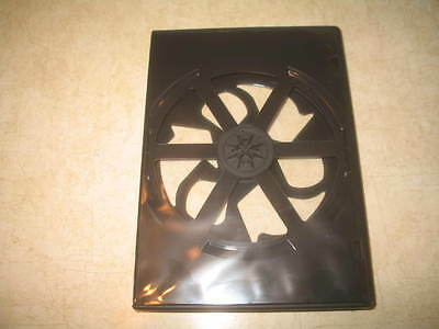138 New Eco Lightweight Double DVD Cases - Black - Hold 2 Discs Each