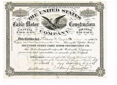 United States Cable Motor Construction Co., 1883, #7