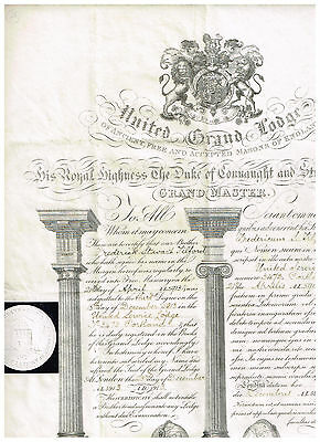 United Grand Lodge, England 1913, see scans, nice !