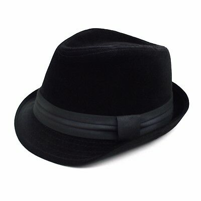 Men's Midnight Black Fall/ Winter Fedora (H171226)