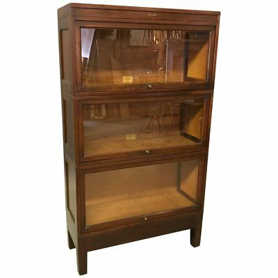 Glass Front Mahogany Barrister Bookcase Cabinet by Globe Wernicke