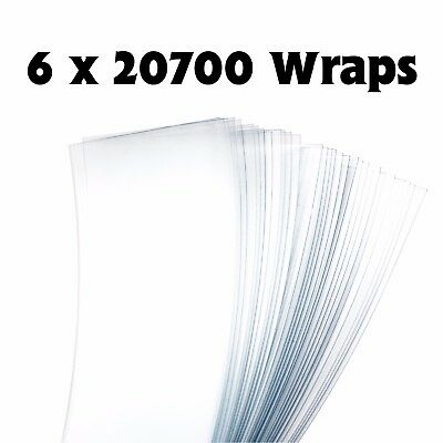 20700 Battery Wraps - Clear x 6
