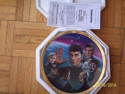 Free Shipping - Star Trek The Next Generation - Unification -Hamilton Collection